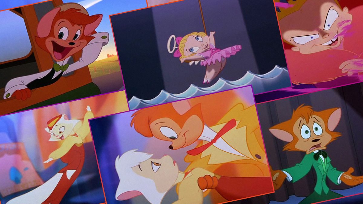 A grid of six rectangles with images of animated dancing cats
