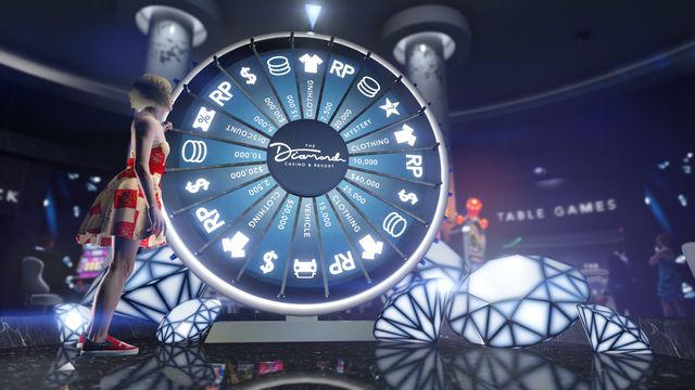 Grand Theft Auto Online - The Diamond Casino & Resort Spin to Win wheel.