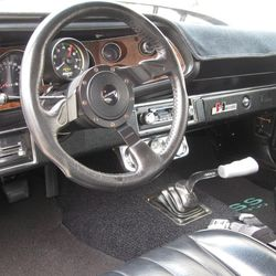 The steering wheel and dashboard of a 1970 Chevrolet Camaro RS/SS. The car will be given away at the 2016 Cache Valley Cruise-In, which is sponsored by the Cache Valley Cruising Association and runs from June 30-July 1 in Logan.