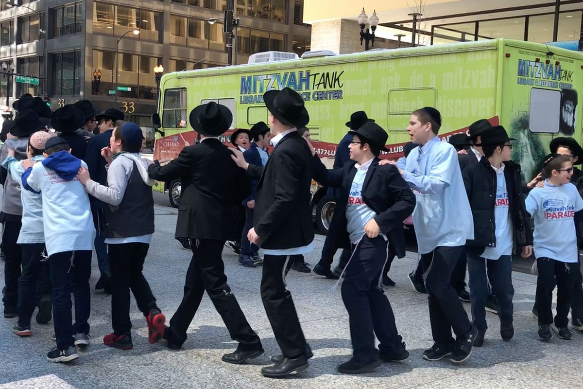 Mitzvah parade comes downtown, across city to celebrate