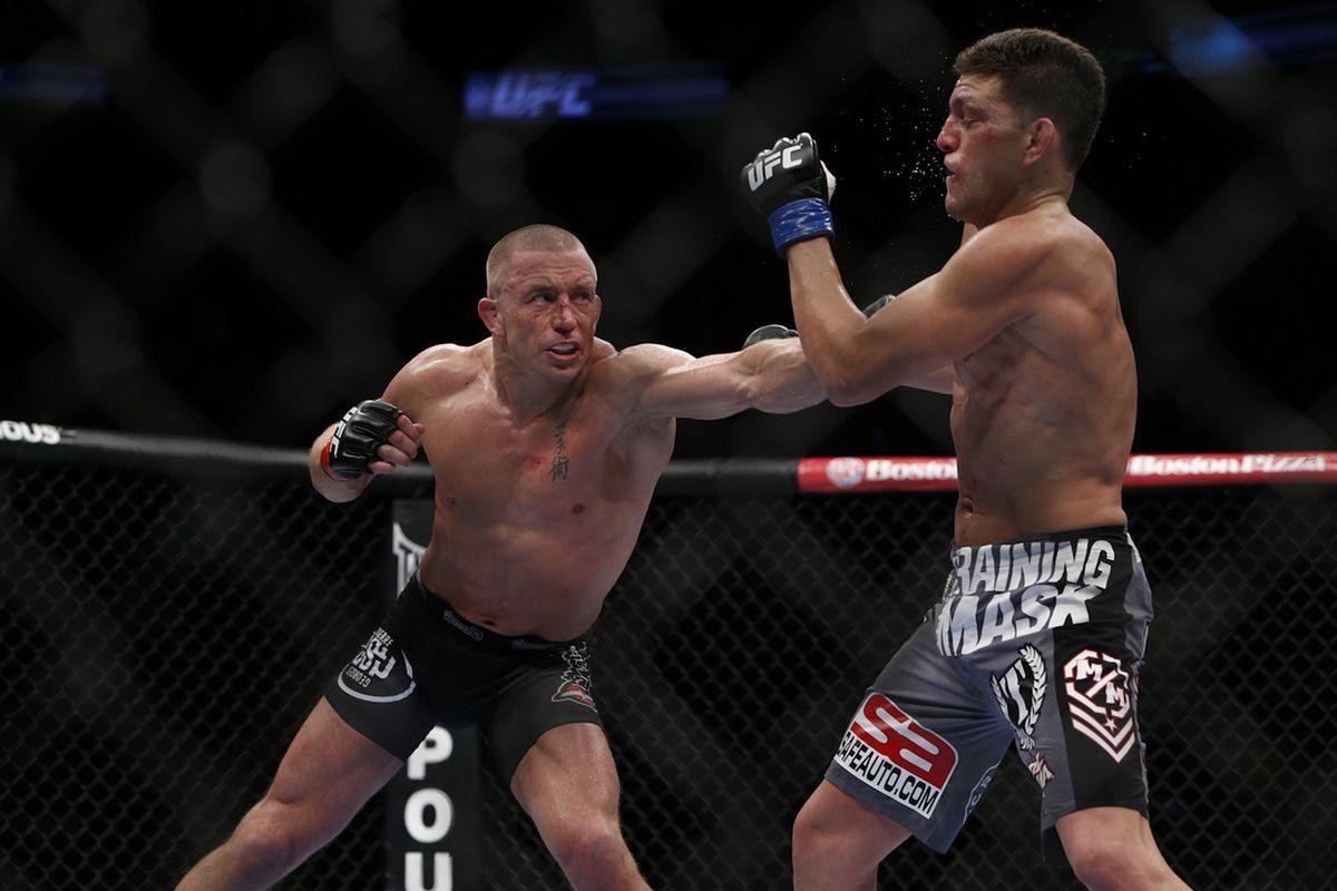 Kết quả hình ảnh cho Nick Diaz vs GSP