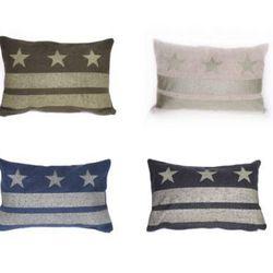 """Star pillows by Brooklyn's <a href=""""http://www.etsy.com/shop/fritzandfraulein"""">Fritz & Fräulein<a>"""