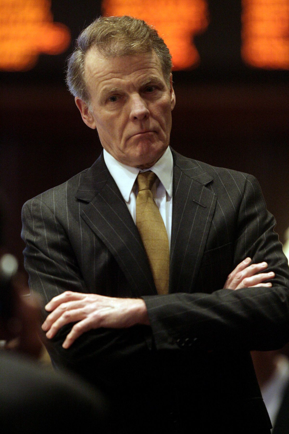 House Speaker Michael Madigan, D-Chicago, listens during a House session in 2007.