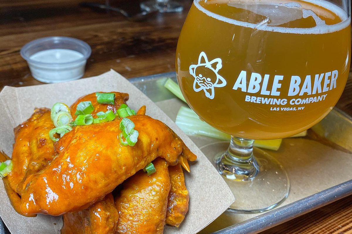 Wings and beer at Arts District Craft & Kitchen