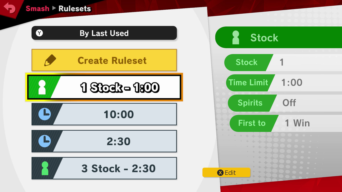 A list of custom rulesets for Super Smash Bros. Ultimate