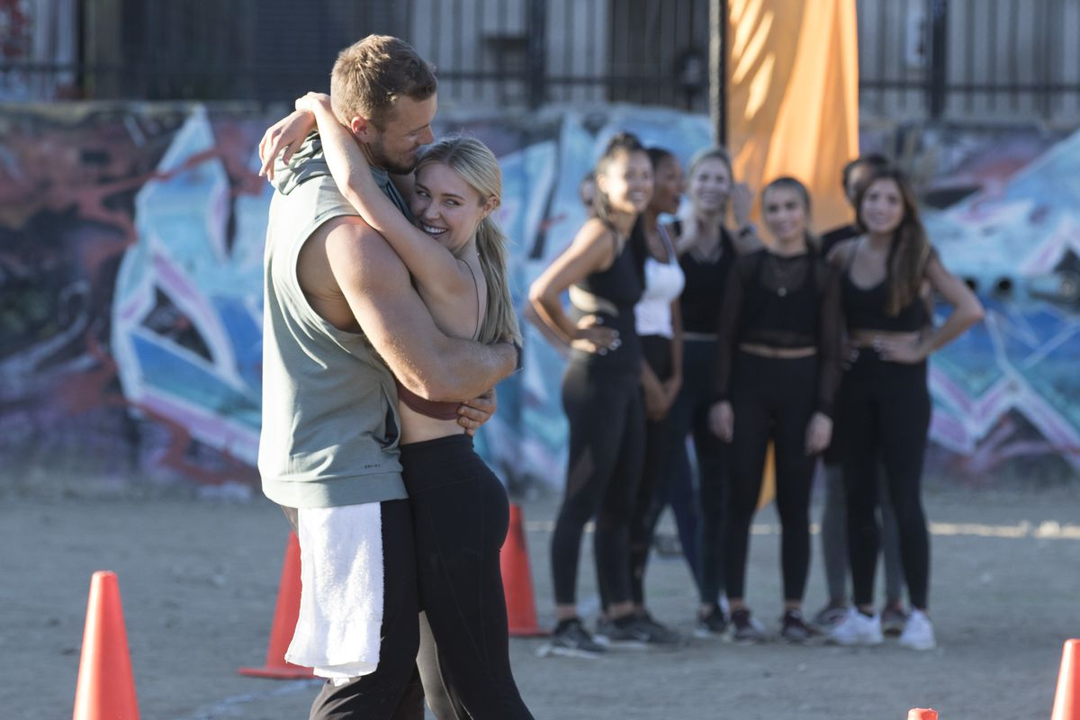 Colton and Cassie hugging in 'The Bachelor'