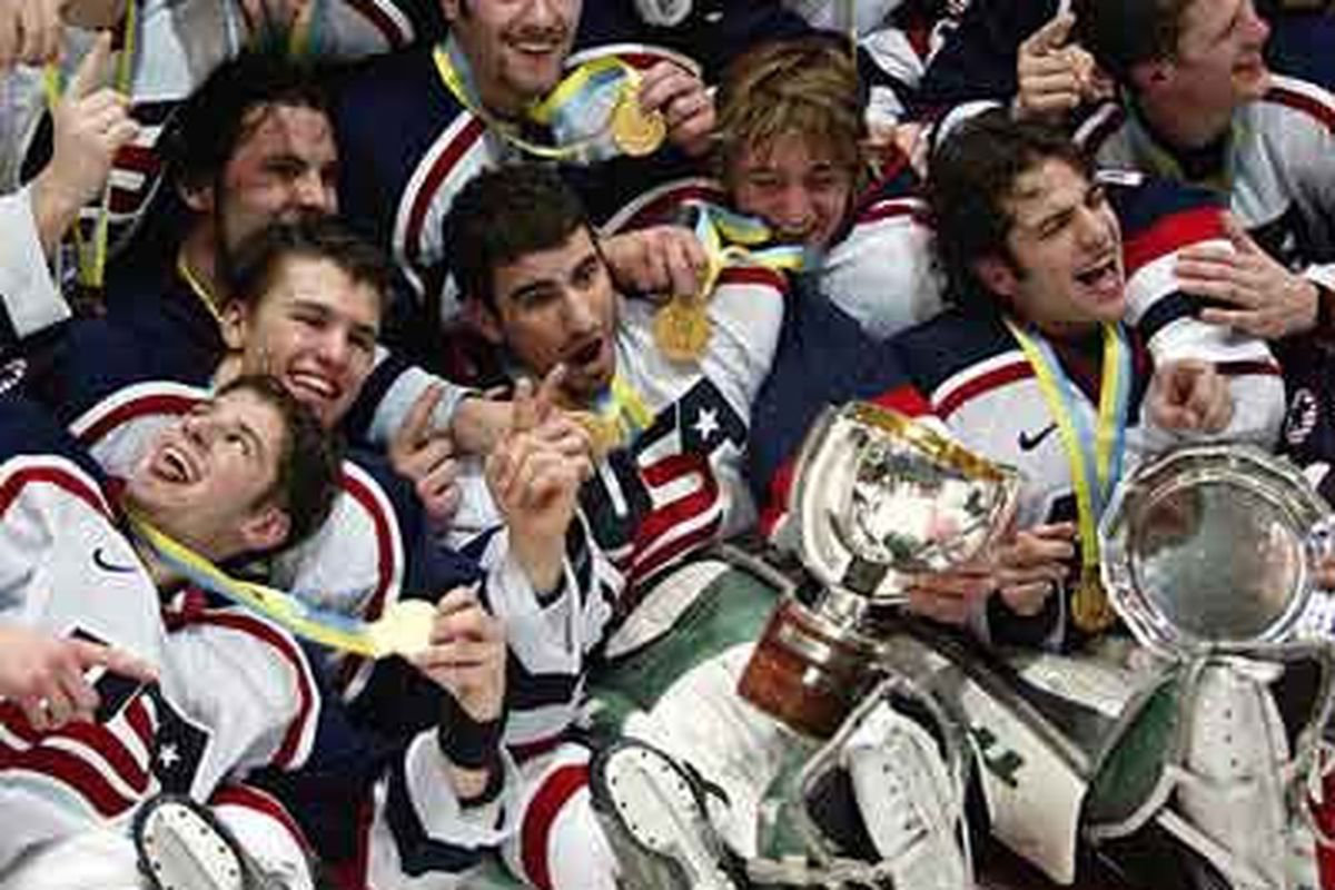 Let's get as many guys from the 2004 WJC gold medal team and crush the Canadians again.