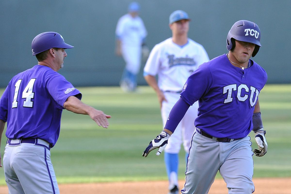 Josh Elander (right) seems to have finally adjusted to High-A pitching.