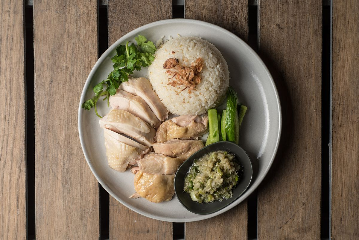 Hainan chicken at Side Chick