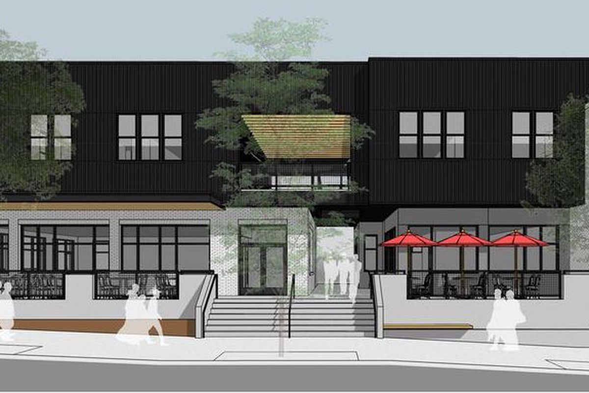 A rendering of where ex-Mayor Shirley Franklin might be spotted in the near future.