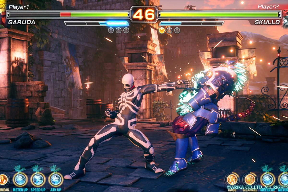 arika s mysterious fighting game has a title and a beta coming to