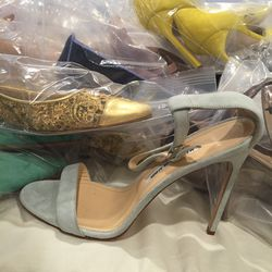 Suede heel with hardware, size 41, $150