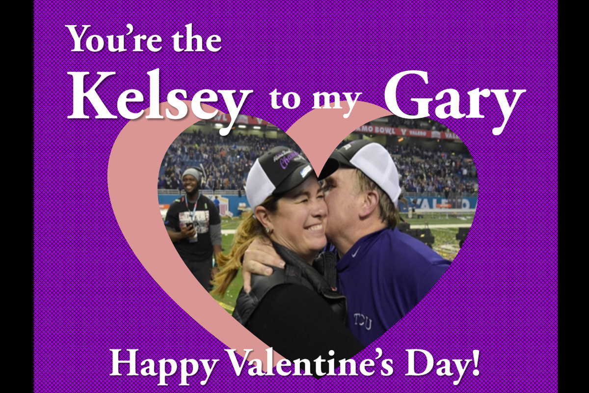 Spread the Horned Frog love with these TCU Valentines!