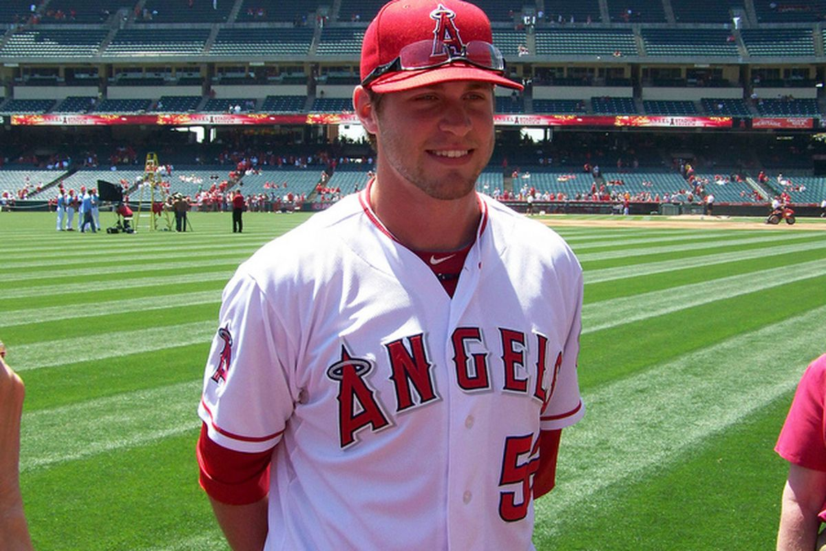 Angels RHP David Carpenter (#52) gives us a big smile for Photo Day