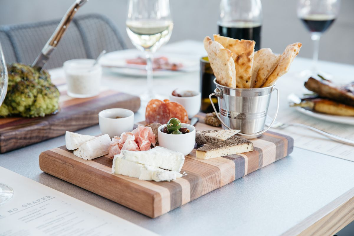 charcuterie and cheese board at Sixty Vines