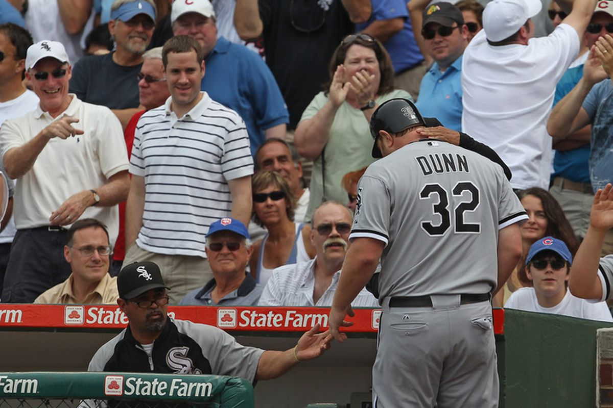 Little known fact: DC is now considering making Adam Dunn the secret identity of the Flash. (Photo by Jonathan Daniel/Getty Images)