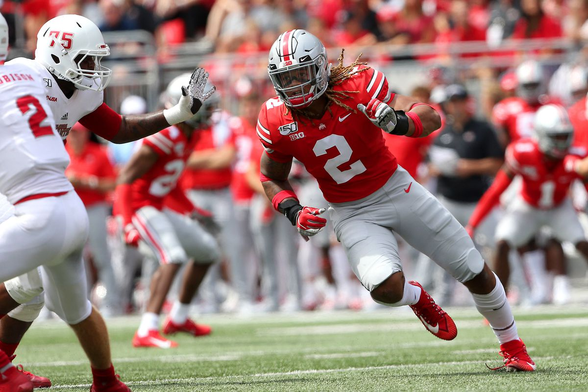 Image result for chase young sack 2019