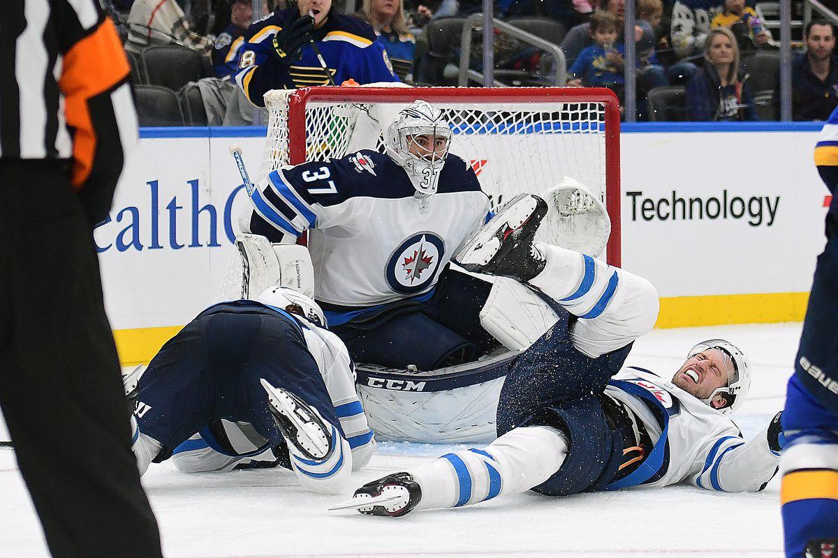 NHL: DEC 29 Jets at Blues