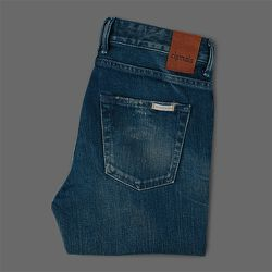 """<strong>Chimala</strong> Stretch Denim Slim Cut in Smoky Indigo, <a href=""""http://www.millmercantile.com/Chimala_Stretch_Denim_Slim_Cut_in_Smoky_Indigo_14429.html"""">$368</a> at Mill Mercantile"""
