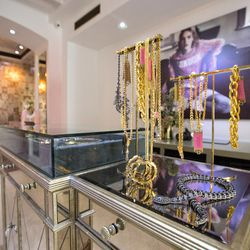 """The store also carries jewelry from <a href=""""http://www.leenabell.com/leenabell/Welcome.html""""target=""""_blank"""">Leenabell</a> designer Monica Stanley. Items include her vintage collection of repurposed, one-of-a-kind pieces ($100-$1800), her fine/custom coll"""