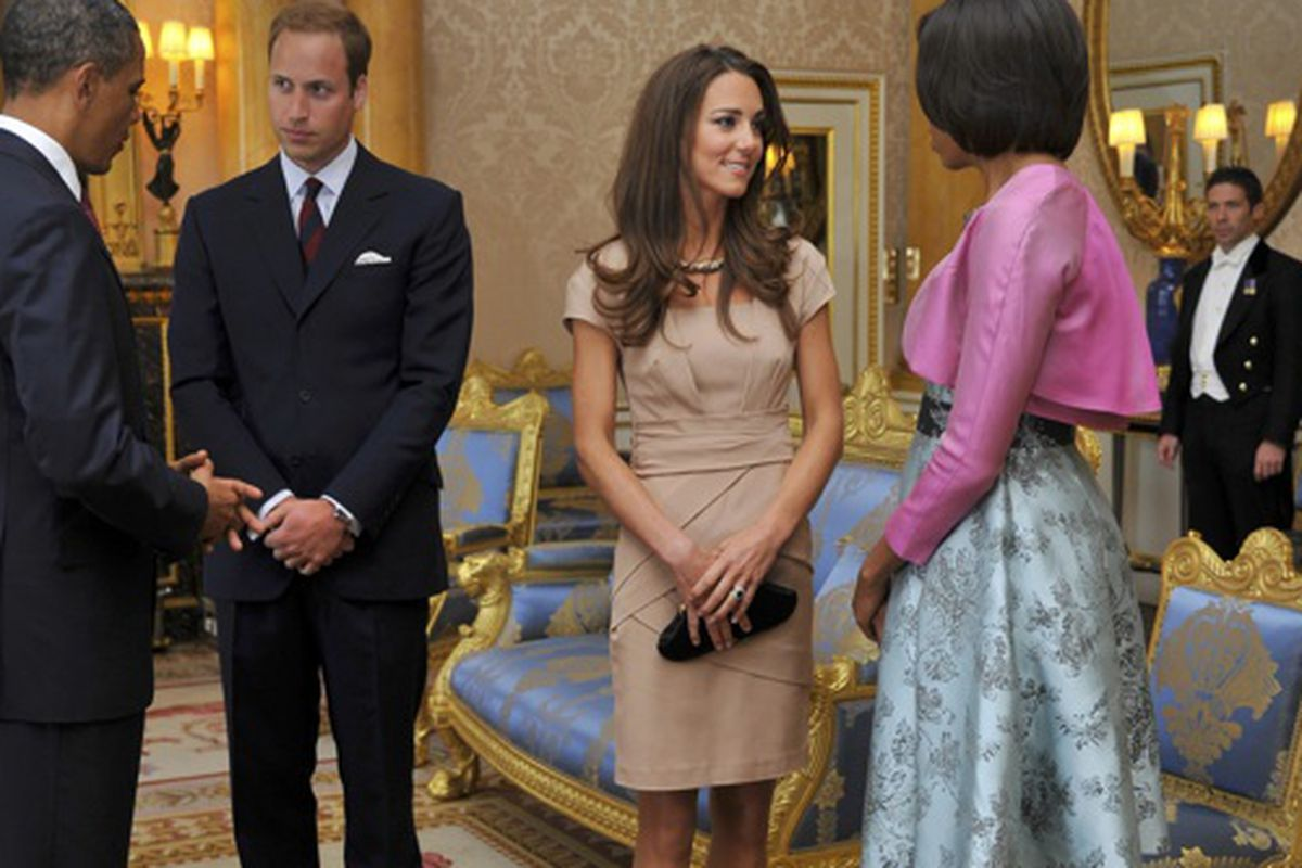 d34397d1683 Kate Middleton Wears a  340 Reiss Dress to Meet the Obamas - Racked