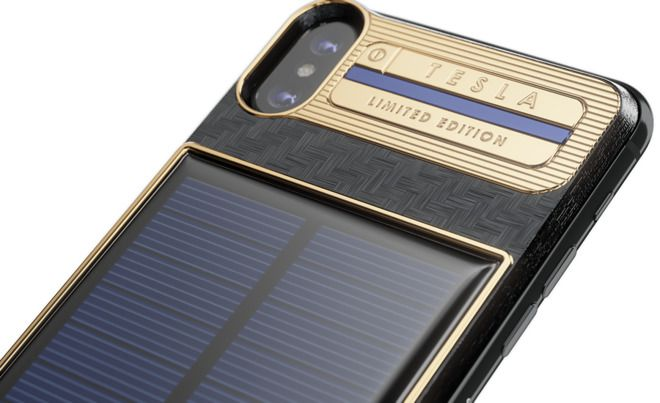 Here's a $4,500 iPhone X with a solar charger on the back