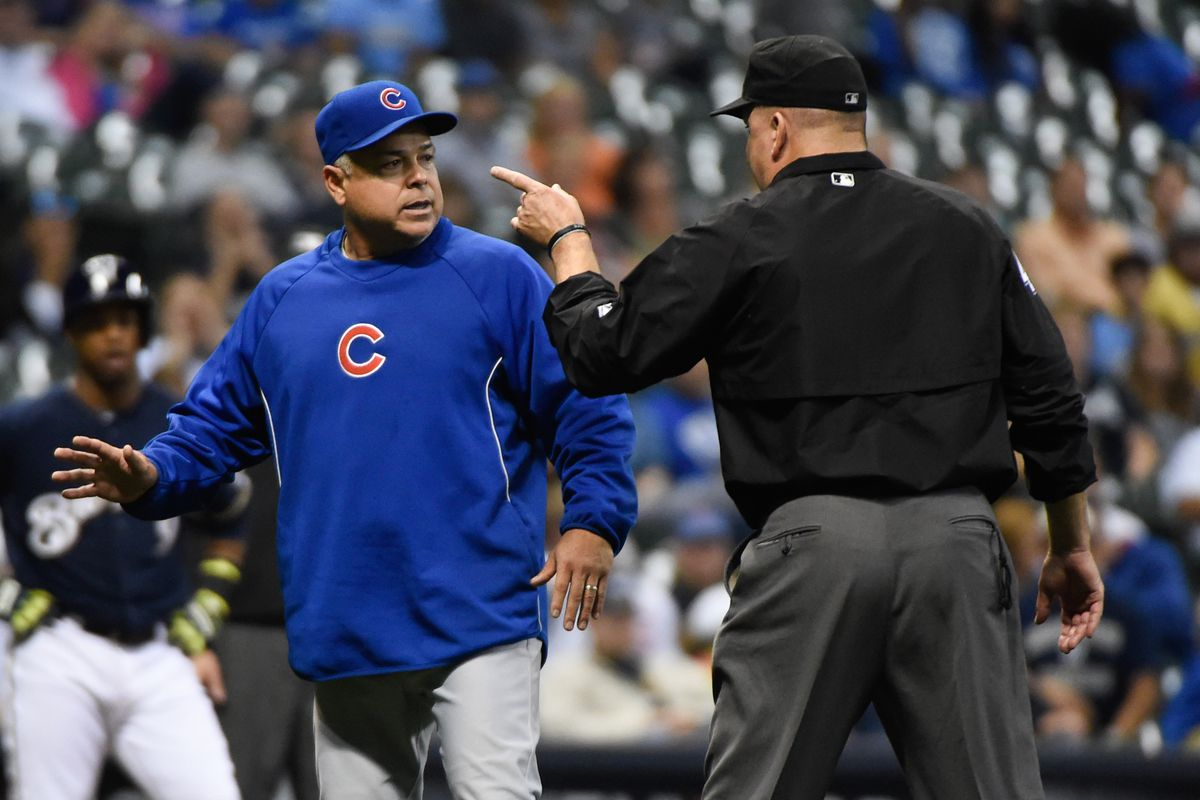 Rick Renteria was ejected seven times in 2014 -- six by umpires, once by the Cubs