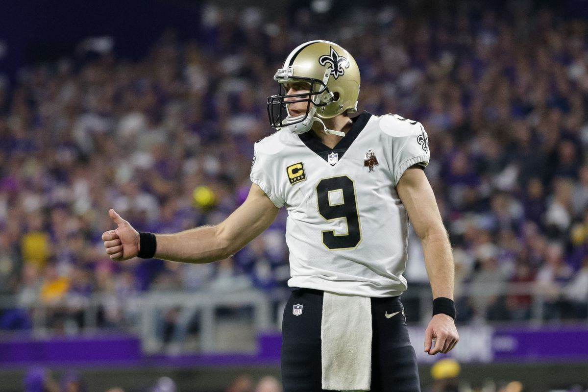 Minnesota Vikings have spoken with Drew Brees' agent