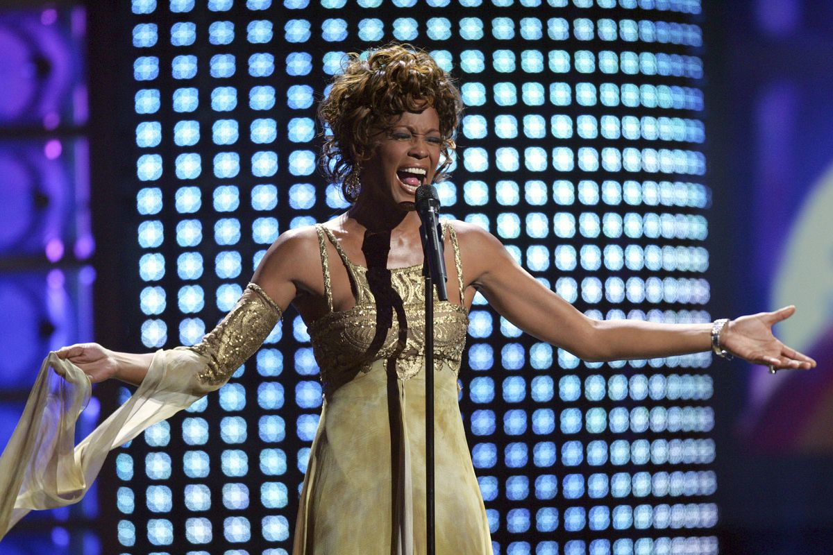 Whitney Houston performs at the 2004 World Music Awards at the Thomas and Mack Arena in Las Vegas.