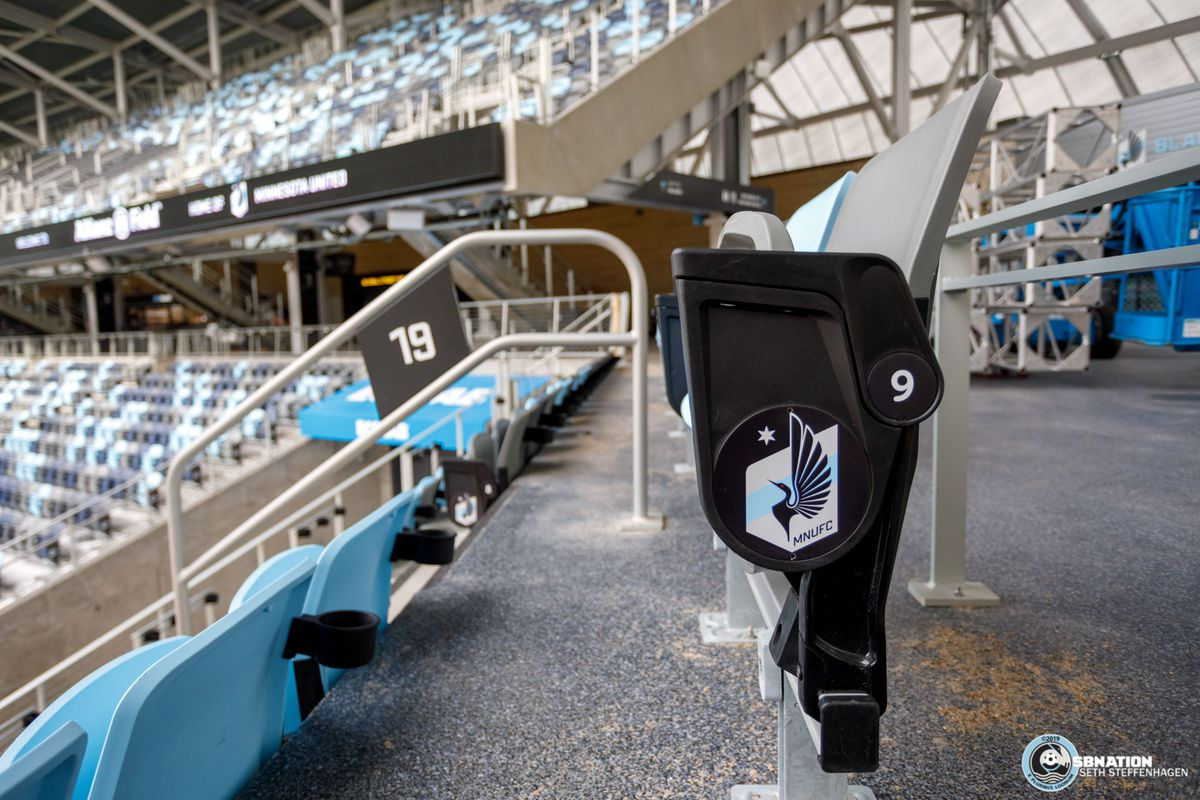March 18, 2019 - Saint Paul, Minnesota, United States - View of the seats in section 19 at Allianz Field.   (Photo by Seth Steffenhagen/Steffenhagen Photography)