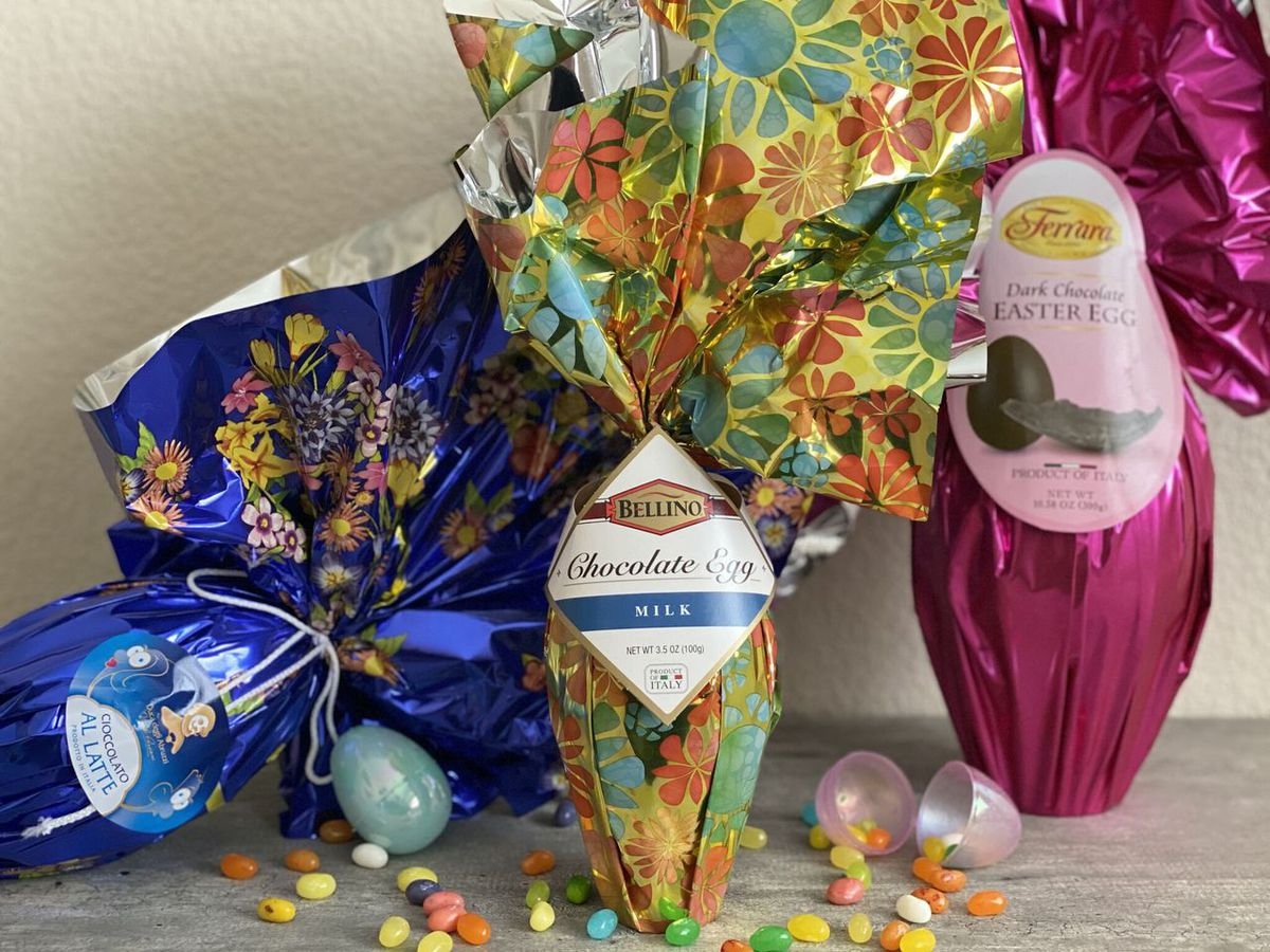 Chocolate eggs at Siena Italian Authentic Trattoria & Deli