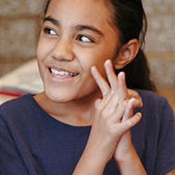 Mountain View Elementary sixth-grader Siteli Mapa attends her Girls With a Voice meeting at school.