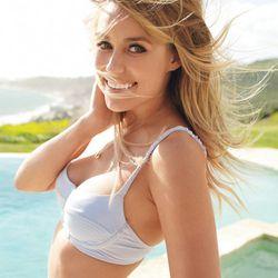 Malia Mills bikini and a gold Tiffany & Co. necklace