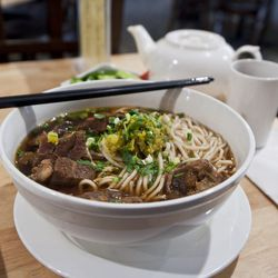 """Beef Noodle Soup from Liang's Kitchen by <a href=""""http://www.flickr.com/photos/nicknamemiket/8469397575/in/pool-eater/"""">nicknamemiket</a>"""