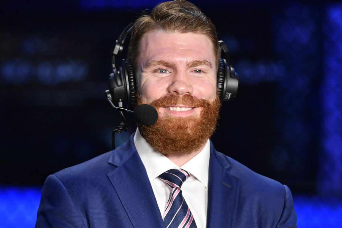 Paul Felder joins the post-fight show broadcast after the UFC Fight Night event inside Flash Forum on UFC Fight Island on July 16, 2020 in Yas Island, Abu Dhabi, United Arab Emirates.