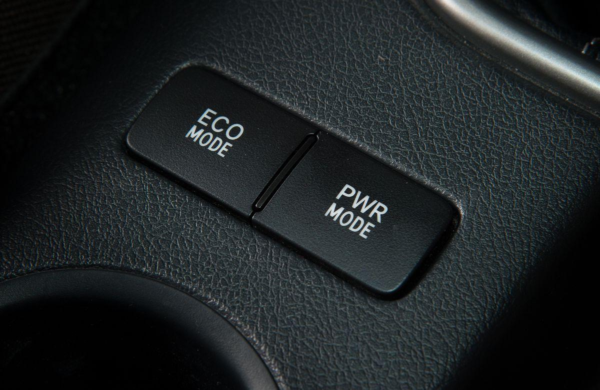 A car's eco mode button