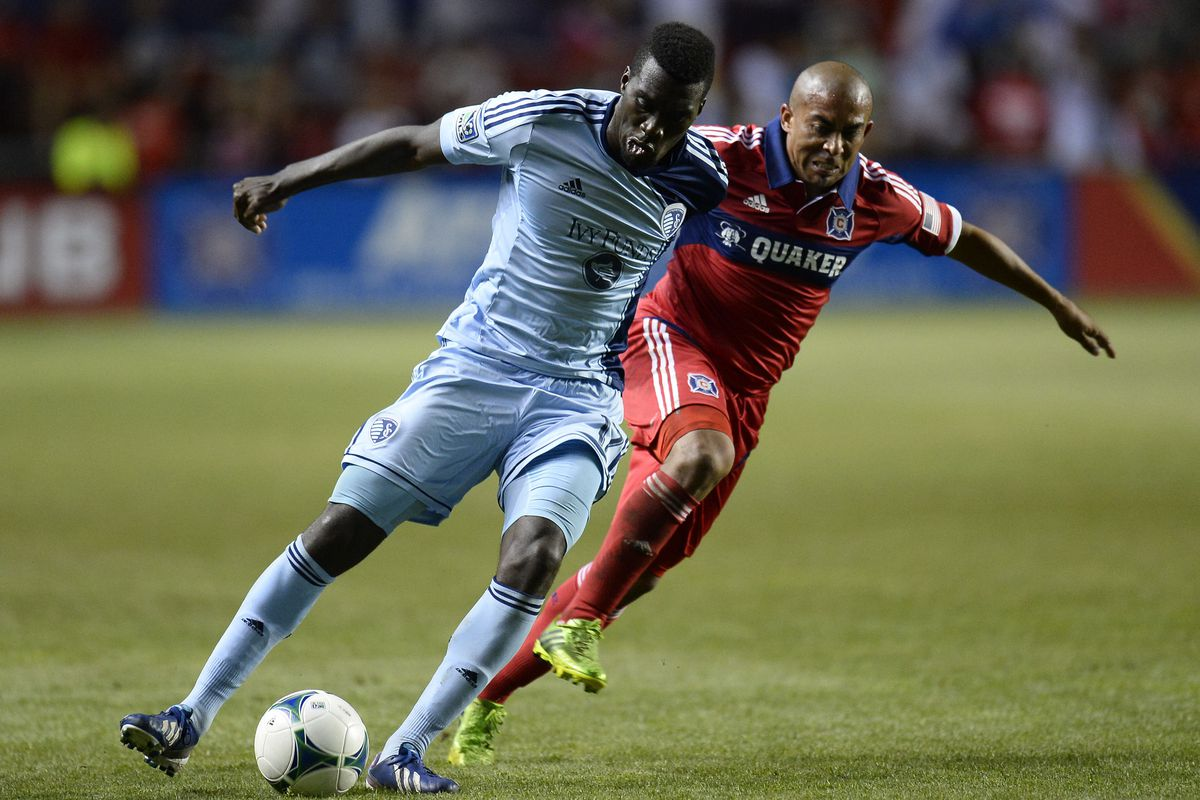 Oh, CJ Sapong, don't you know you're about to get it? Arevalo Rios on the job.
