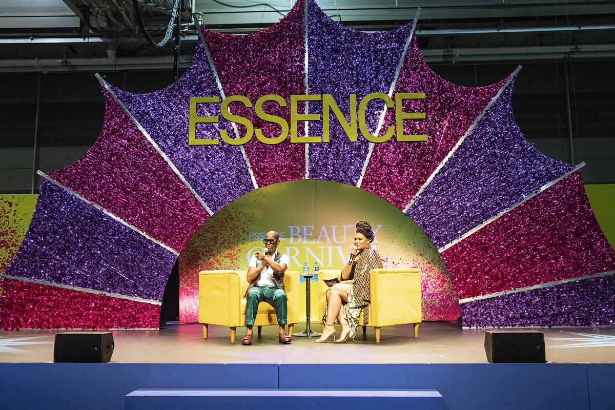 Dapper Dan (left) appears at the 2019 Essence Festival in New Orleans.