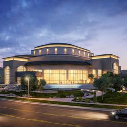 Artist's rendering of the new Hale Centre Theatre under construction at 9900 Monroe in Sandy anticipated to open this fall.