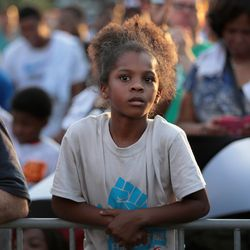 One of the many young faces at the rally. | Scott Olson/Getty Images