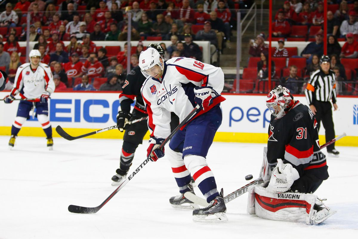 Anton Khudobin makes a save against the Capitals on Friday night