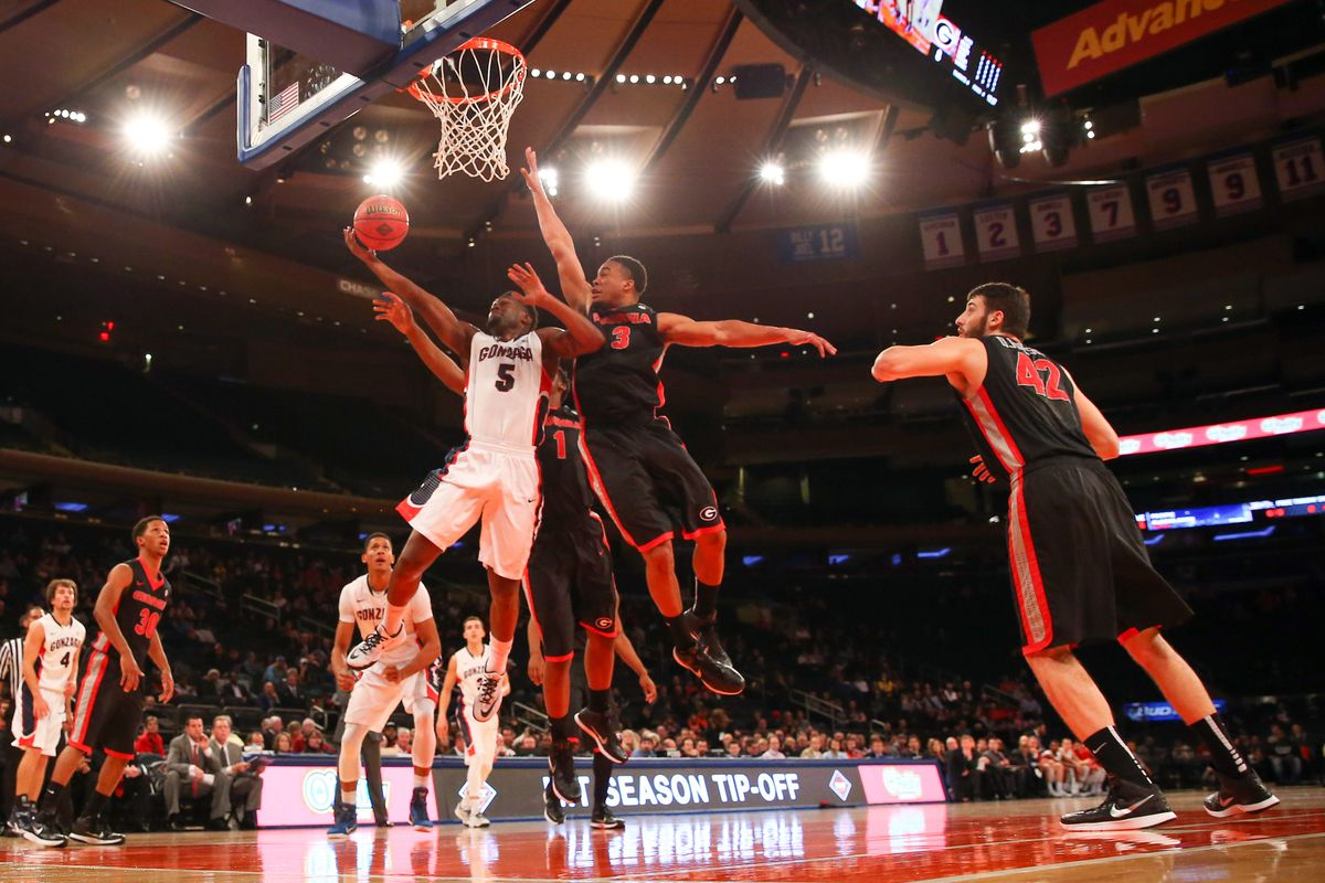 Georgia lost to Gonzaga 88-76 at Madison Square Garden in the NIT Season Tip-off