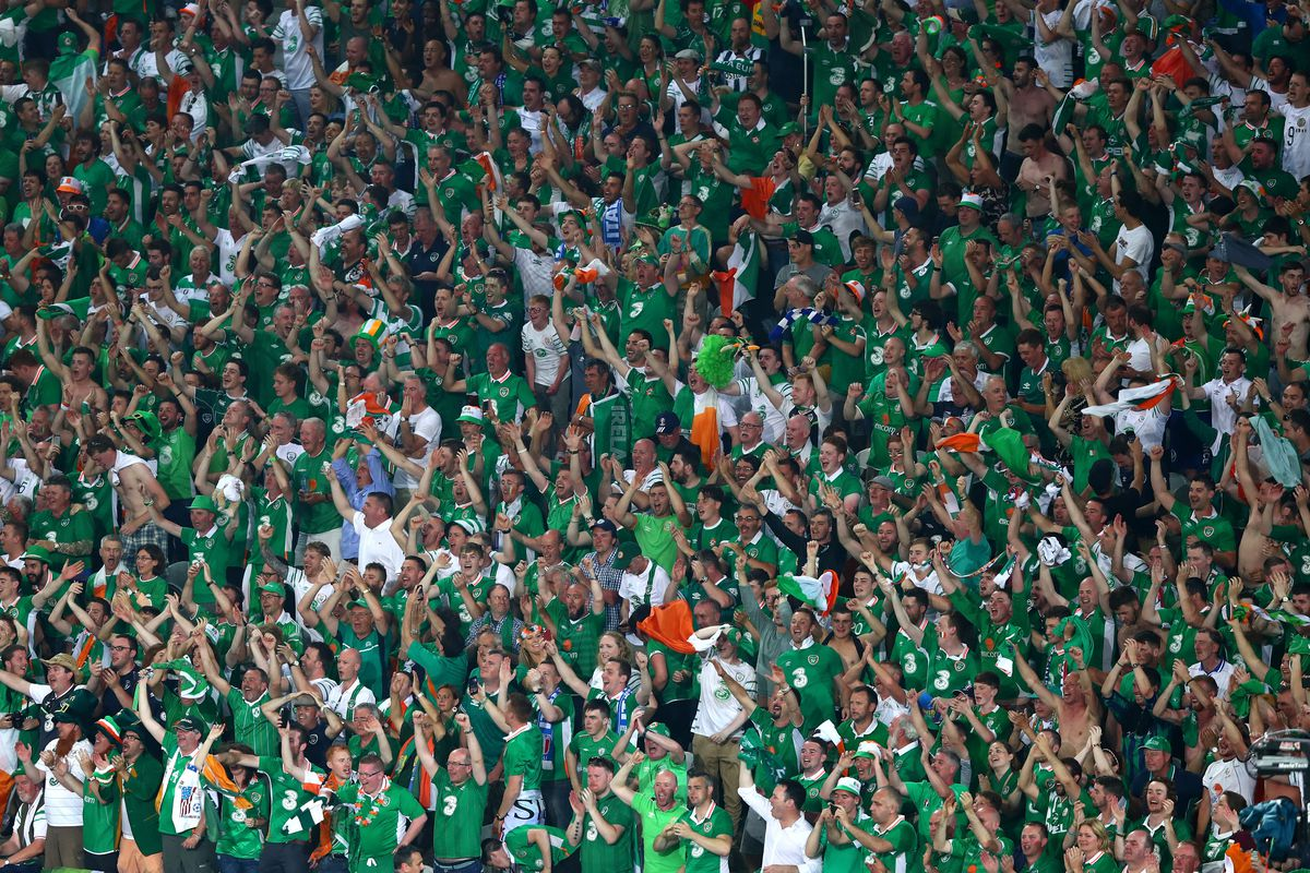 The MVPs of the world right now are the Irish fans.