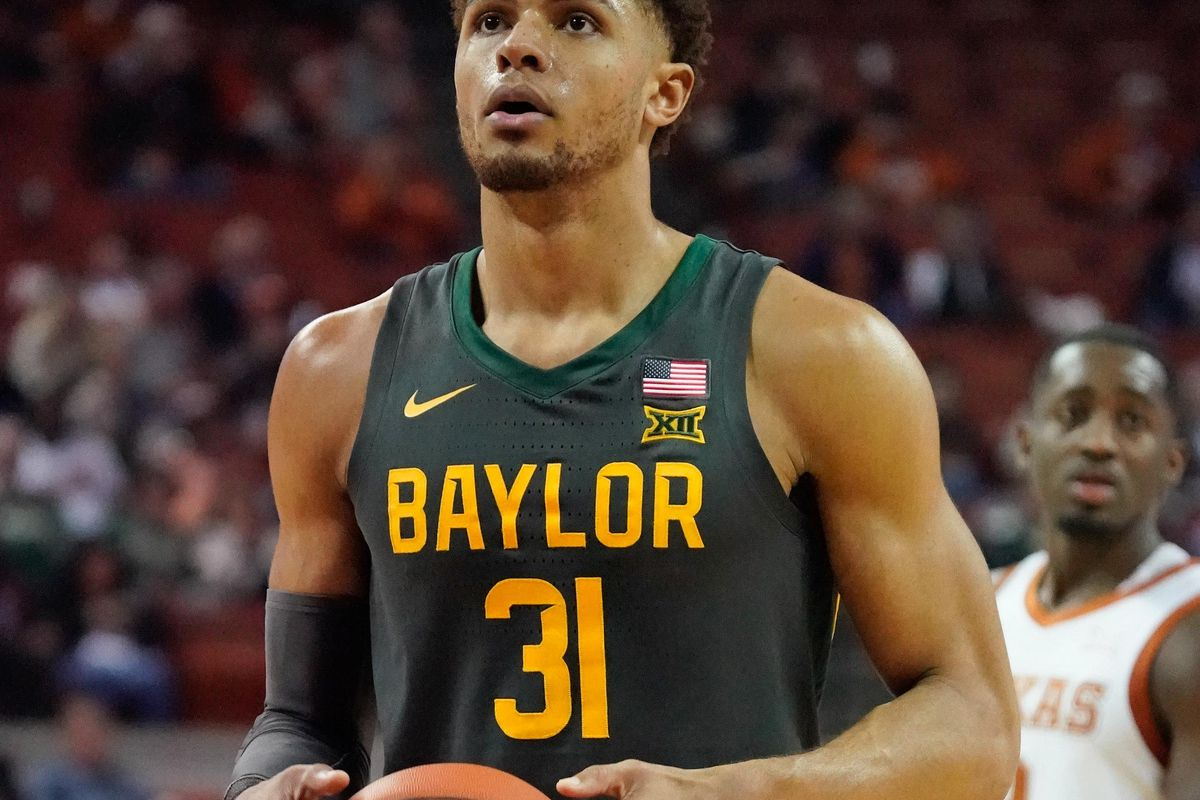 Baylor Bears guard MaCio Teague shoots a free throw in the second half of the game against the Texas Longhorns at Frank C. Erwin Jr. Center.