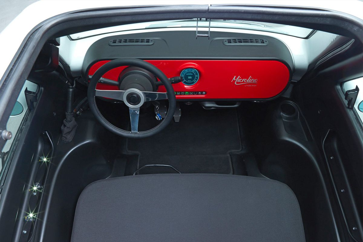 Interior shot of front seat