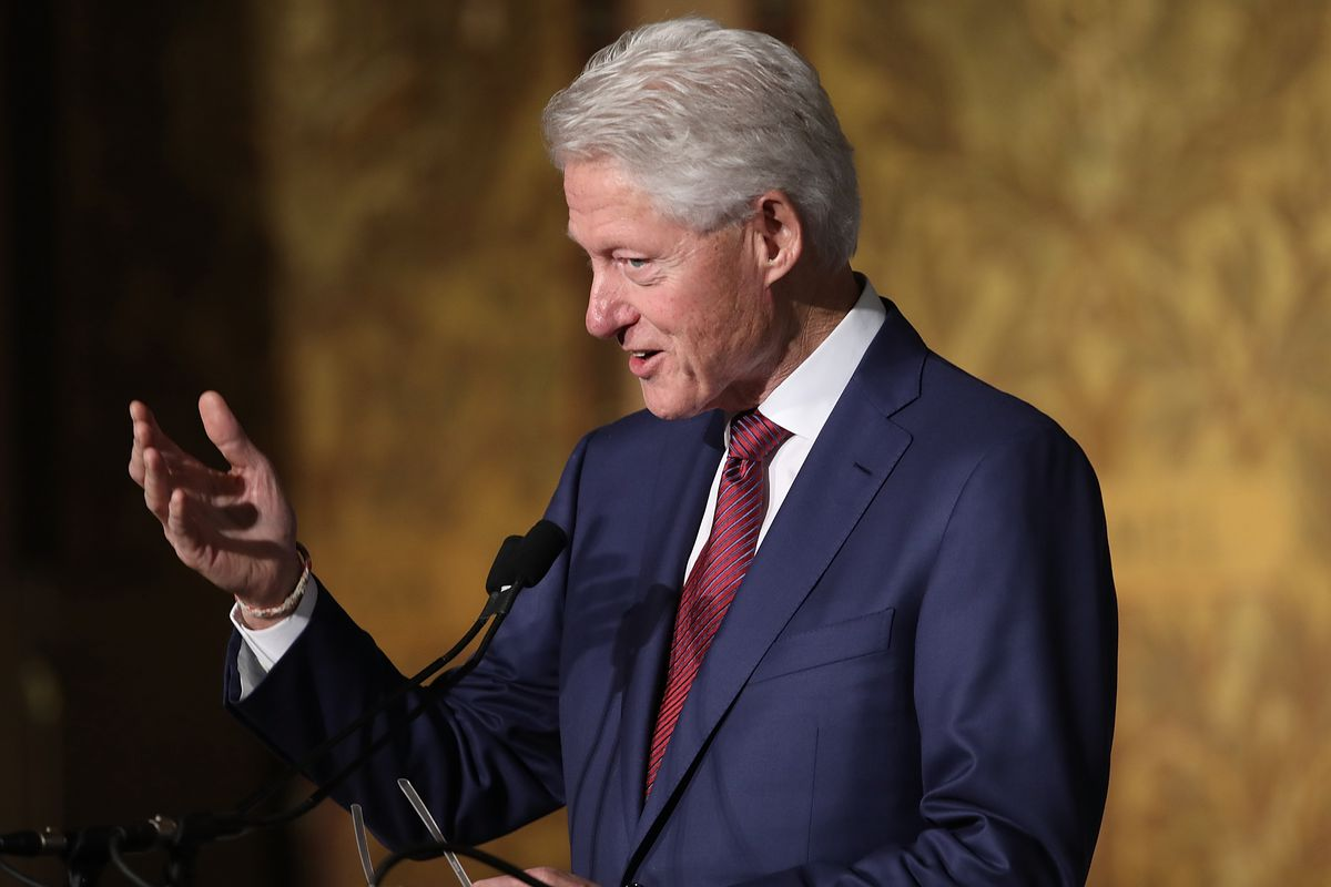 Bill Clinton Speaks At Symposium Marking 25th Anniversary Of His Election