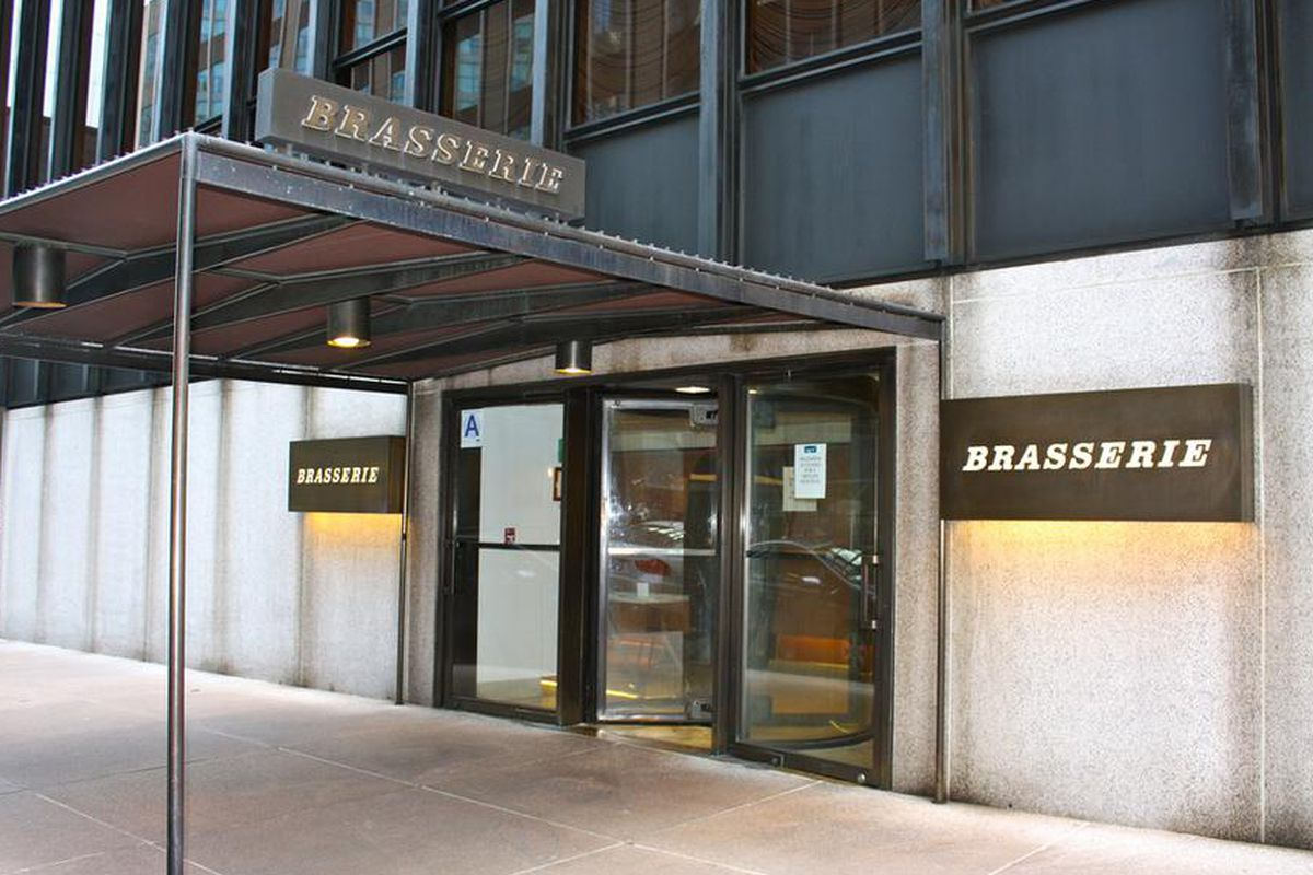 Brasserie Restaurant Seagram Building New York
