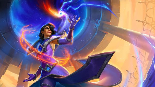 Hearthstone - a mage charges up a powerful spell