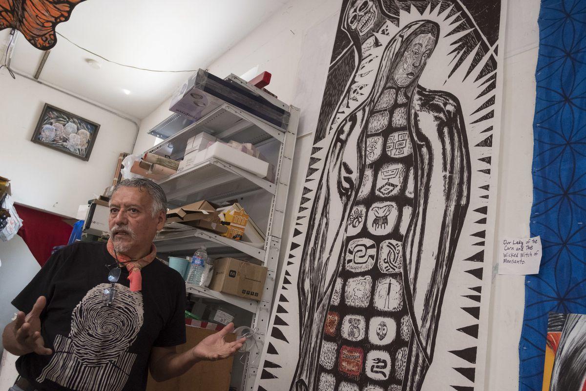 Hector Duarte inside his studio.