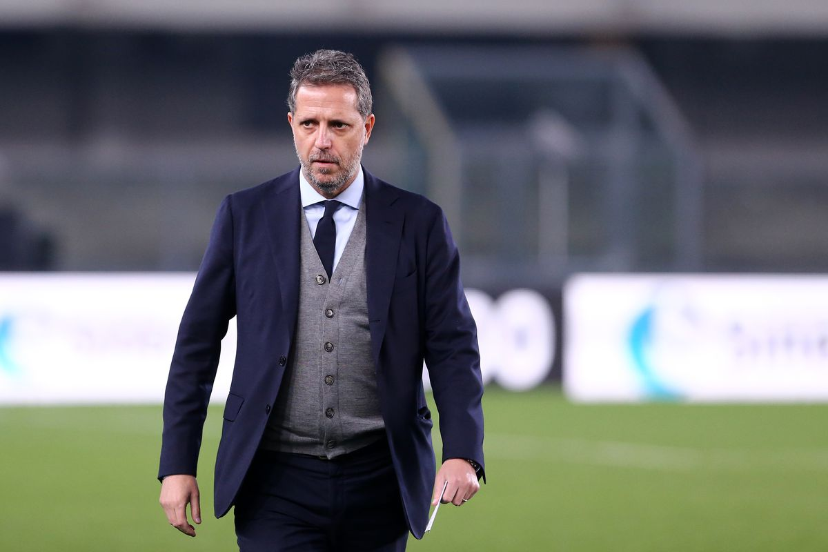 Fabio Paratici of Juventus FC looks on before the Serie A...
